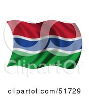 Wavy Gambia Flag by stockillustrations