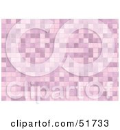 Royalty Free RF Clipart Illustration Of A Background Of Pink Tiles