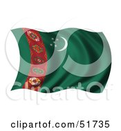 Wavy Turkmenistan Flag by stockillustrations