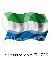 Wavy Sierra Leone Flag by stockillustrations