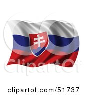 Wavy Slovakia Flag by stockillustrations