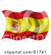 Wavy Spain Flag Version 2 by stockillustrations