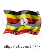 Wavy Uganda Flag by stockillustrations