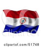 Wavy Paraguay Flag by stockillustrations
