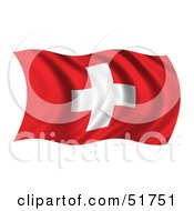 Wavy Swiss Flag Version 1 by stockillustrations