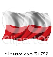Wavy Poland Flag by stockillustrations