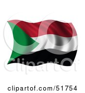 Wavy Sudan Flag by stockillustrations