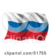 Wavy Russia Flag Version 1 by stockillustrations
