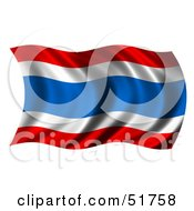 Wavy Thailand Flag Version 2 by stockillustrations