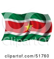 Wavy Suriname Flag by stockillustrations