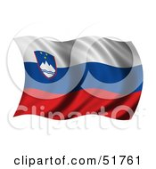 Wavy Slovenia Flag by stockillustrations