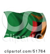 Wavy Zambia Flag by stockillustrations
