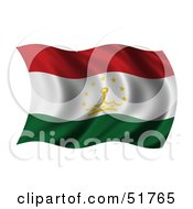 Wavy Tajikistan Flag by stockillustrations