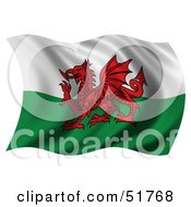 Wavy Wales Flag by stockillustrations