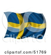 Wavy Sweden Flag Version 1 by stockillustrations