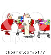 Mr And Mrs Claus Shopping For Christmas Presents