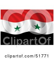 Royalty Free RF Clipart Illustration Of A Wavy Syria Flag