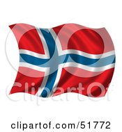 Wavy Norway Flag Version 2 by stockillustrations