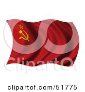 Wavy Soviet Union Flag by stockillustrations