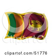 Wavy Sri Lanka Flag by stockillustrations