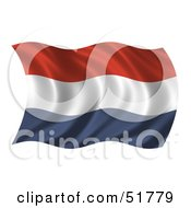 Wavy Netherlands Flag Version 2 by stockillustrations