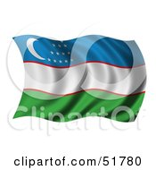 Wavy Uzbekistan Flag by stockillustrations