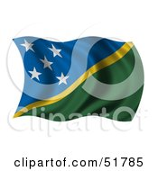 Wavy Solomon Islands Flag by stockillustrations