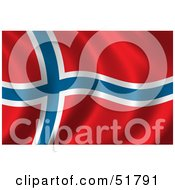 Wavy Norway Flag Version 1 by stockillustrations