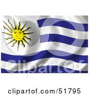 Royalty Free RF Clipart Illustration Of A Wavy Uruguay Flag by stockillustrations