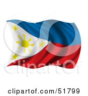 Wavy Phillippines Flag Version 2 by stockillustrations