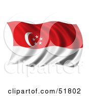 Wavy Singapore Flag by stockillustrations