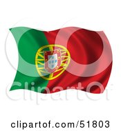 Wavy Portugal Flag by stockillustrations