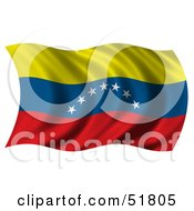 Wavy Venezuela Flag by stockillustrations