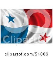 Royalty Free RF Clipart Illustration Of A Wavy Panama Flag by stockillustrations