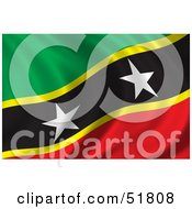 Wavy Saint Kitts Flag by stockillustrations
