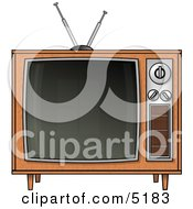 Old Fashioned Television Set Clipart by djart