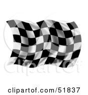 Wavy Race Flag - Version 2