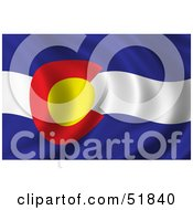 Royalty Free RF Clipart Illustration Of A Wavy Colorado State Flag