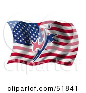 Royalty Free RF Clipart Illustration Of A Democratic Donkey Flag Version 2