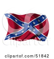 Wavy Confederate States Of America Flag by stockillustrations
