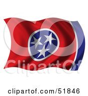 Royalty Free RF Clipart Illustration Of A Wavy Tennessee State Flag