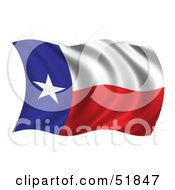 Royalty Free RF Clipart Illustration Of A Wavy Texas State Flag