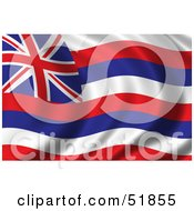 Royalty Free RF Clipart Illustration Of A Wavy Hawaii State Flag