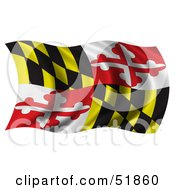 Royalty Free RF Clipart Illustration Of A Wavy Maryland State Flag