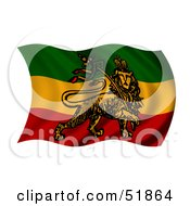 Wavy Rastafari Movement Flag by stockillustrations