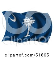 Royalty Free RF Clipart Illustration Of A Wavy South Carolina State Flag by stockillustrations