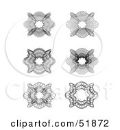 Clipart Illustration Of A Digital Collage Of Ornate Guilloche Designs Version 1 by stockillustrations