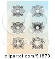 Clipart Illustration Of A Digital Collage Of Ornate Guilloche Designs Version 2 by stockillustrations