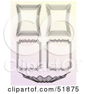 Clipart Illustration Of A Digital Collage Of Ornate Guilloche Borders Version 2 by stockillustrations