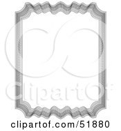Clipart Illustration Of An Ornate Guilloche Border Version 4